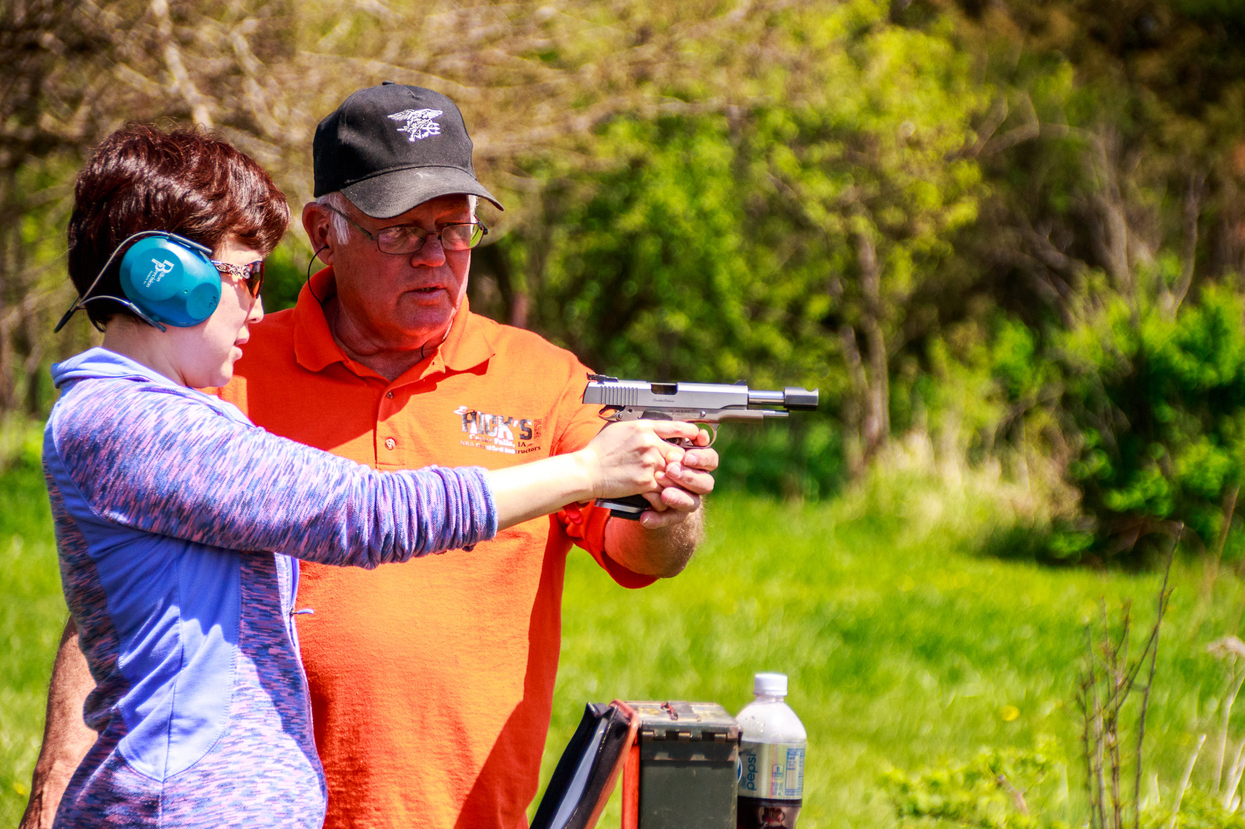 Shooting lessons at Hick's Place
